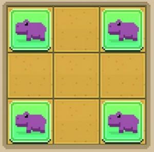 02 disco zoo pattern savanna hippo