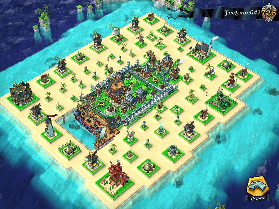 Plunder pirates base design base layout ideas touch tap play
