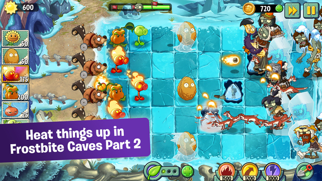 Plants vs  Zombies 2 Receives Second Frostbite Caves Update
