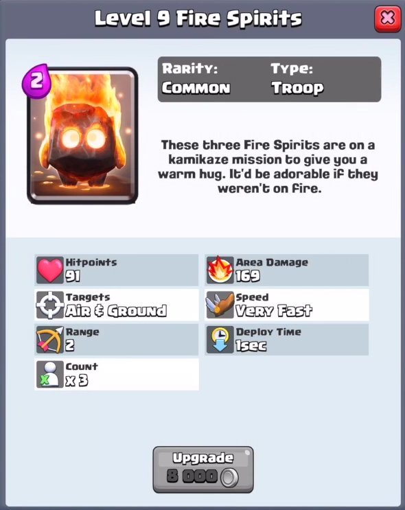 New Clash Royale Cards: Fire Spirits, Furnace, Guards, Lava Hound ...