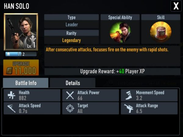 star wars force arena han solo