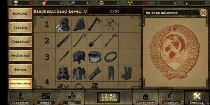 Day R Survival Skills Guide & How to Unlock Blacksmithing