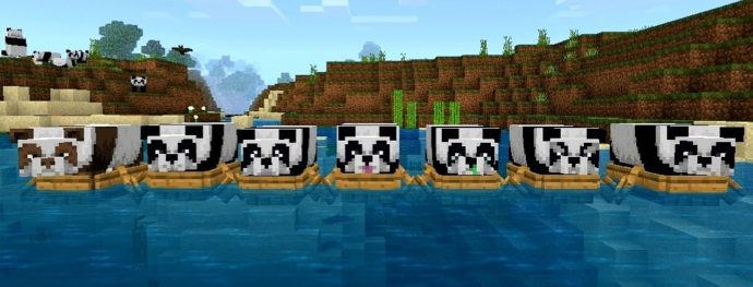 new minecraft update adds pandas and cats touch tap play