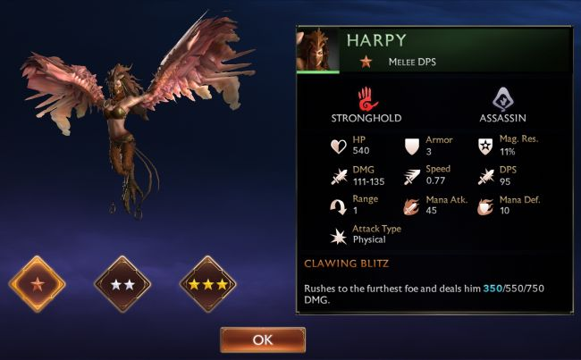 Might & Magic Chess Royale Tier List - Harpy