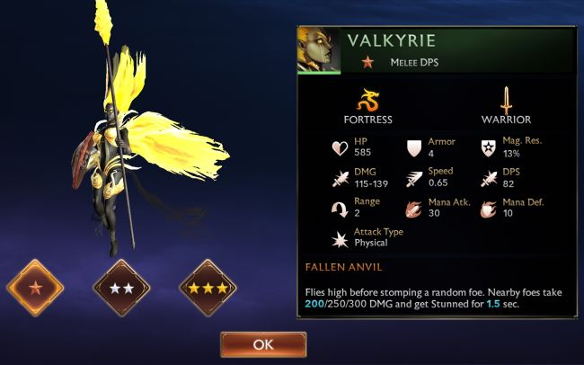 Might & Magic Chess Royale Tier List - Valkyrie