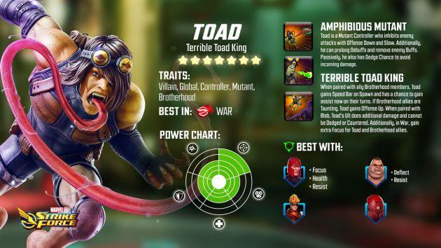 Toad Marvel Strike Force