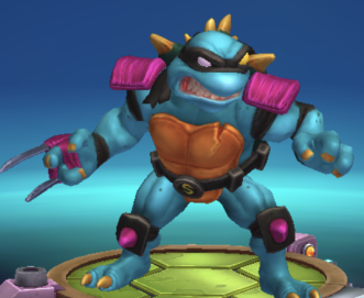 spiky mutant turtle with claw