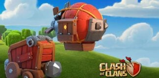 Clash of Clans using siege machines