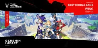 Genshin Impact nominated the game awards 2020