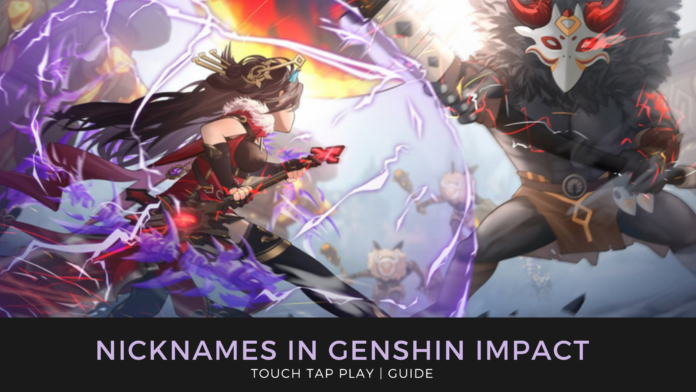 Genshin Impact update 1.2 nickname
