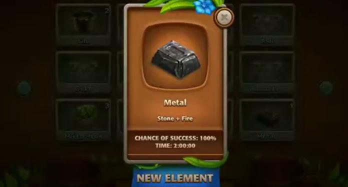 Crafting Metal in Virtual Villagers 2