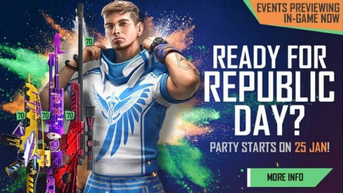 Free Fire free characters on Republic Day
