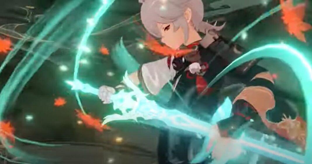 Genshin Impact Kazuha Burst Attack