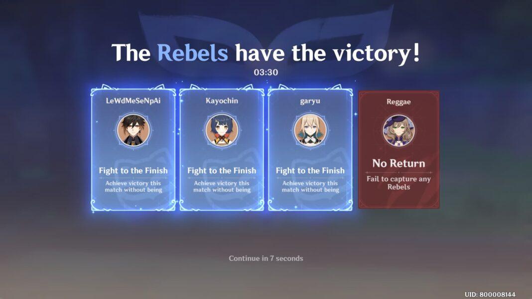 Genshin Impact Rebel Guide