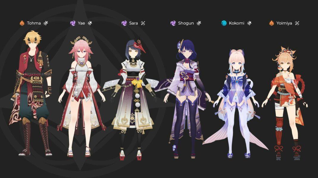 Genshin Impact Inazuma Characters