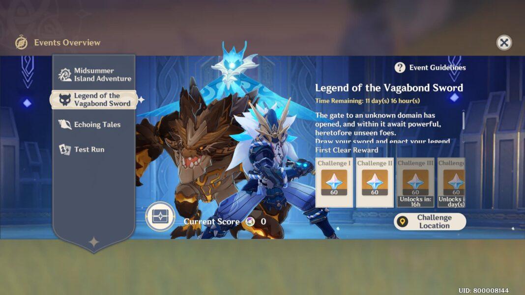 Genshin Impact Legend of Vagabond Event Guide