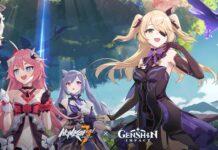 Honkai crossover Genshin Keyart-EN