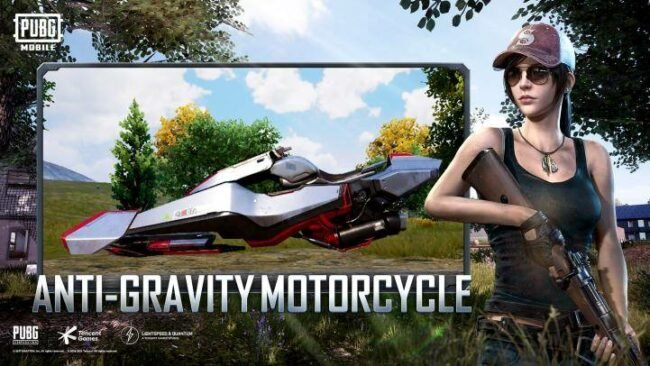 PUBG Mobile Anti Gravity Motorcycle