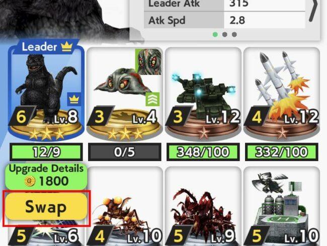 Swapping Leaders in Godzilla Battle Line