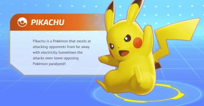 pokemon unite pikachu build guide