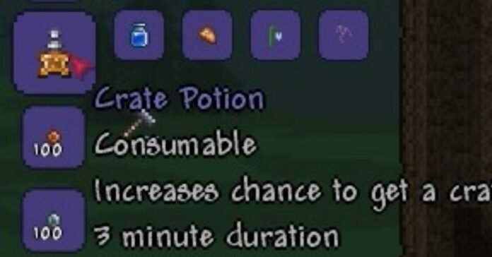 Terraria: How to Get a Crate Potion