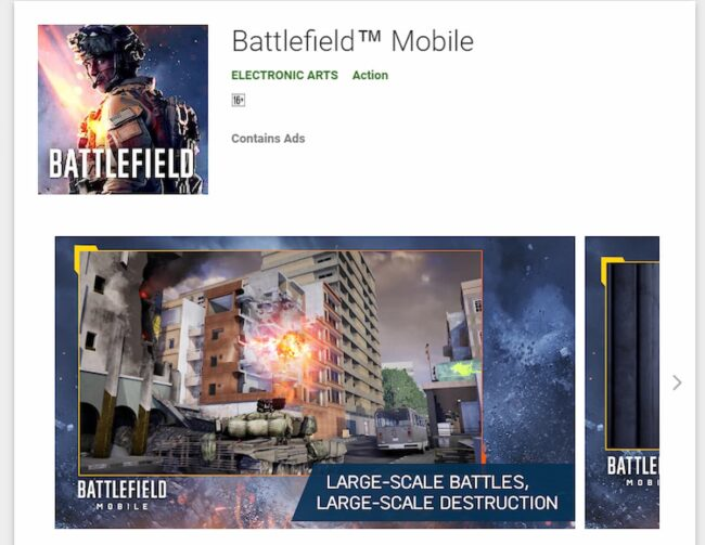 Battlefield Mobile Playstore
