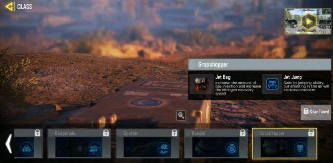 COD Mobile Grasshopper BR class