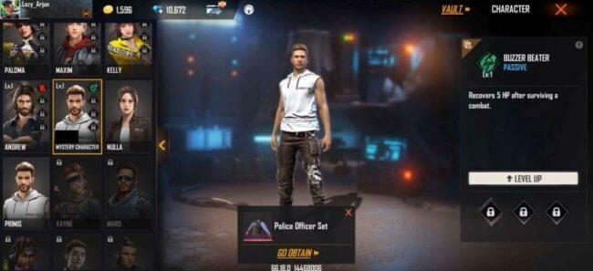 Free Fire Buzzer Beater ability description