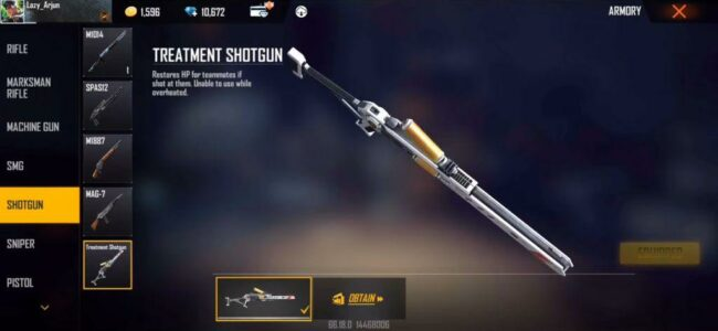 Free Fire Treatment Shotgun