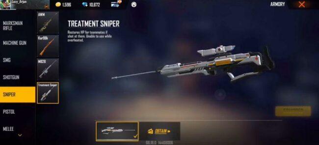 Free Fire Treatment Sniper