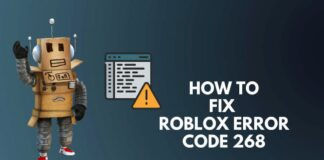 Fix error code 2268 in Roblox