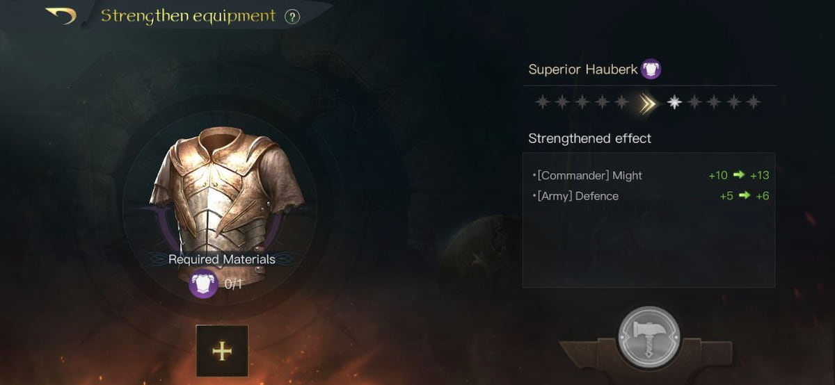 Strengthen Equipments in LOTR: Rise to War
