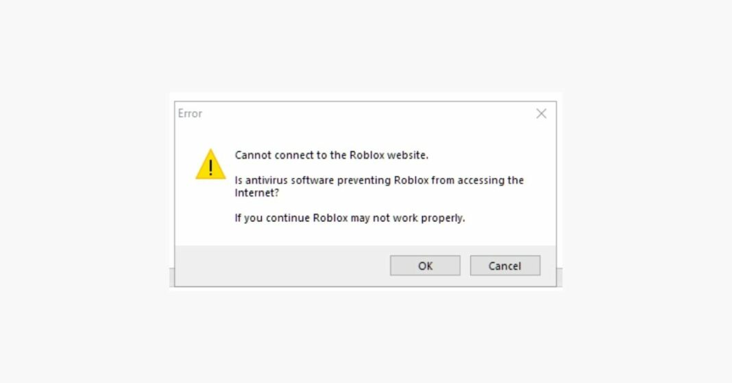 How to Fix Cannot Connect to the Roblox Website Error